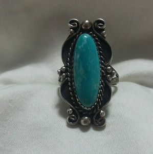 Jewelry - Genuine Turquoise & sterling silver Ring. 8.5